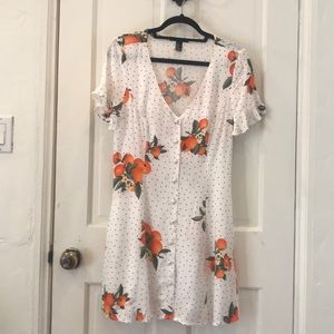 Forever 21 Orange Blossom polkadot sundress